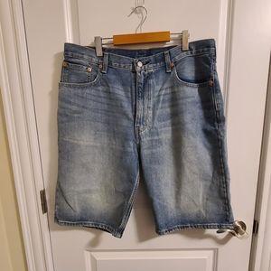 Levi's light washed denim shorts